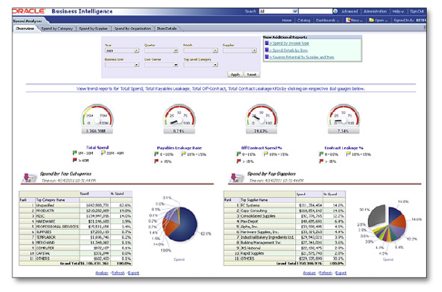 BI Analytics Screenshot